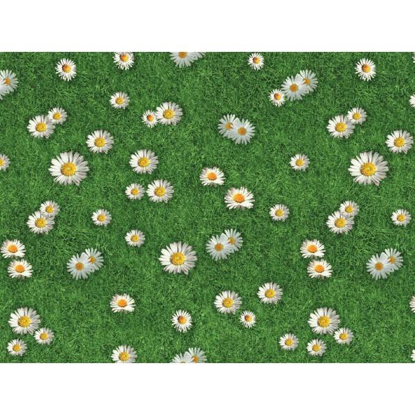 gazon synthetique fleuri