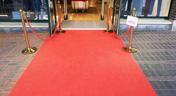 Moquette Basic Rouge - Inauguration magasin